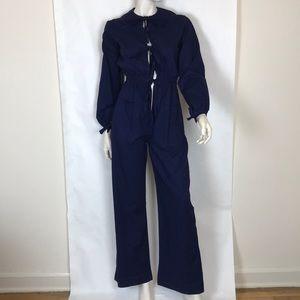 Vintage 70s navy blue boiler suit coveralls XS